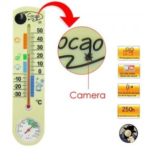 Spy Camera Thermometer with 4GB Internal Memory and Hidden Lens